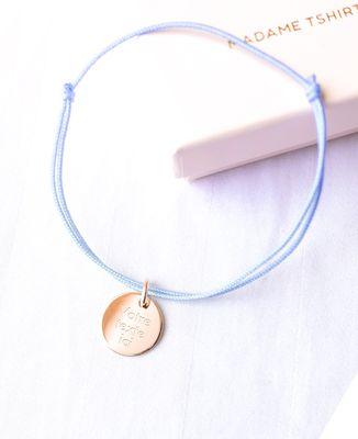 Bracelet Cordon Bijoux plaqué or Personnalisé