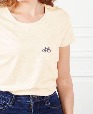 T-Shirt femme Vélo tricolore (brodé)