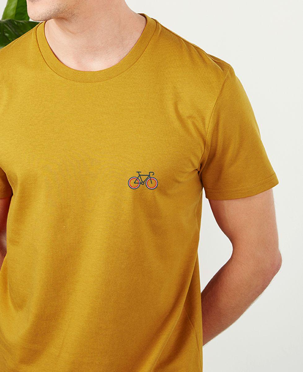 T-Shirt homme Vélo tricolore (brodé)
