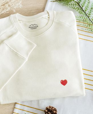 Sweatshirt homme Coeur (brodé)