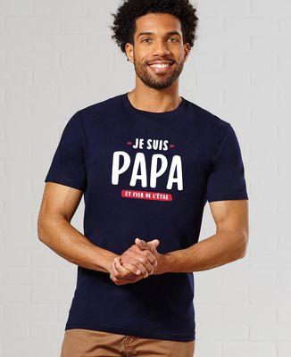 T-Shirt homme Je suis papa et fier de l'être