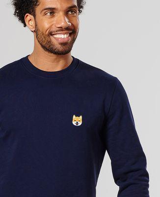 Sweatshirt homme Shiba (brodé)