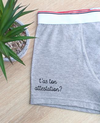 Boxer T'as ton attestation ?
