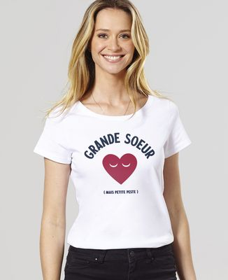 T-Shirt femme Grande soeur mais petite peste