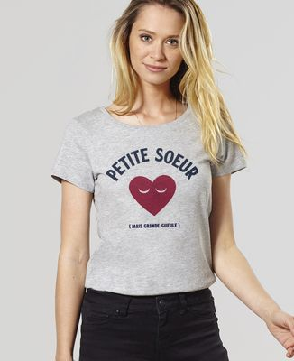 T-Shirt femme Petite soeur grande gueule