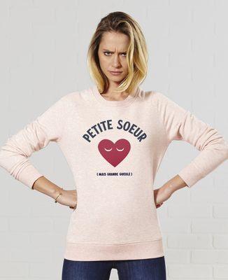 Sweatshirt femme Petite soeur grande gueule