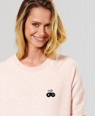 Sweatshirt femme Manette gamer (brodé)