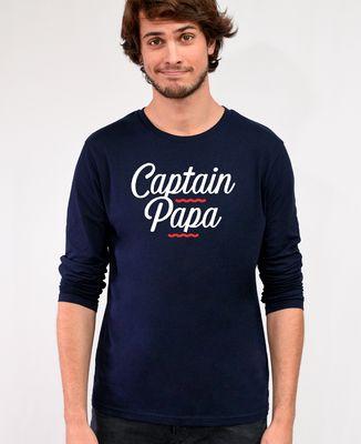 T-Shirt homme manches longues Captain papa