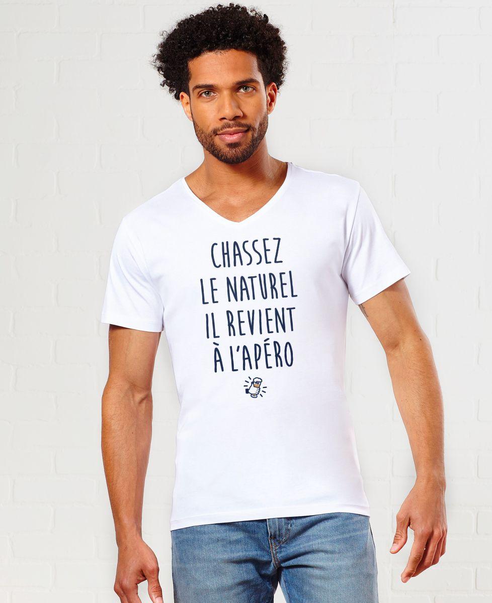 T-Shirt homme Chassez le naturel