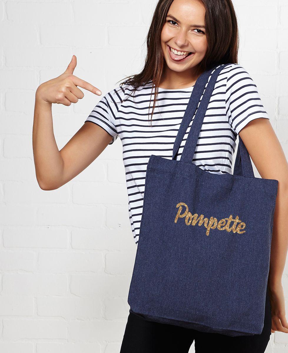 Tote bag Pompette (effet paillettes)
