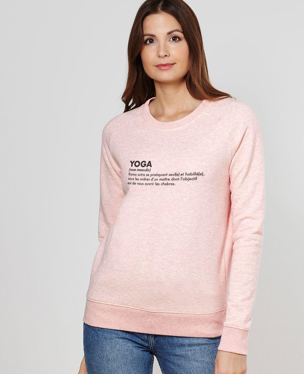 sweat shirt femme yoga