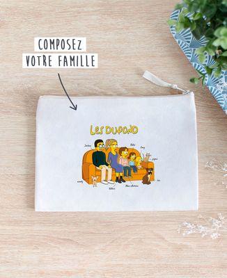 Pochette Famille personnalisée cartoon