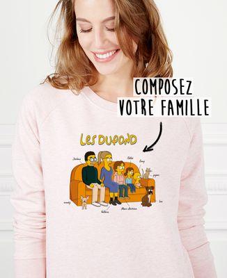 Sweatshirt femme Famille personnalisée cartoon