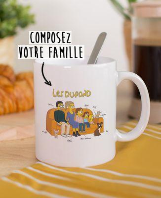 Mug Famille personnalisée cartoon