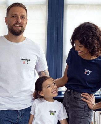 T-Shirt enfant Batterie faible personnalisé (brodé)