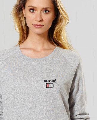 Sweatshirt femme Batterie faible personnalisé (brodé)