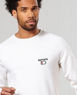 Sweatshirt homme Batterie faible personnalisé (brodé)