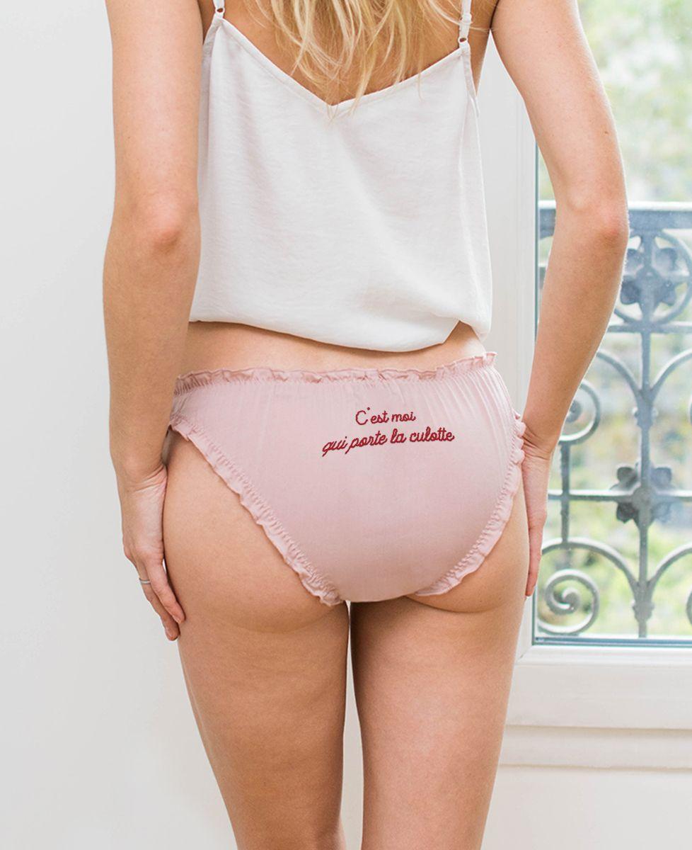 Culotte bloomer C'est moi qui porte la culotte/C'est moi qui l'enlève (broderie)