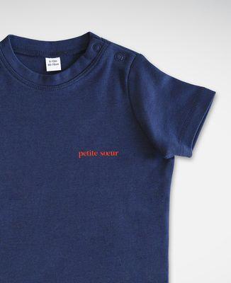 T-Shirt bébé Petite soeur (brodé)