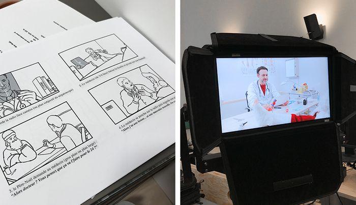 Making of publicité
