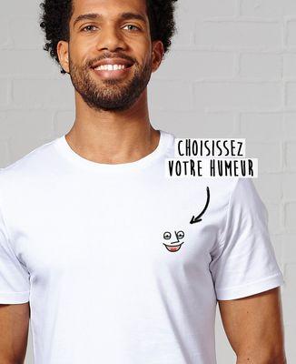 T-Shirt homme Humeur brodée personnalisée