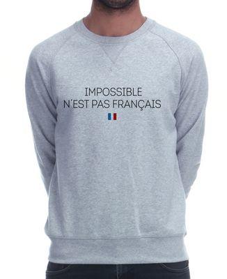 Sweatshirt homme Impossible n'est pas français