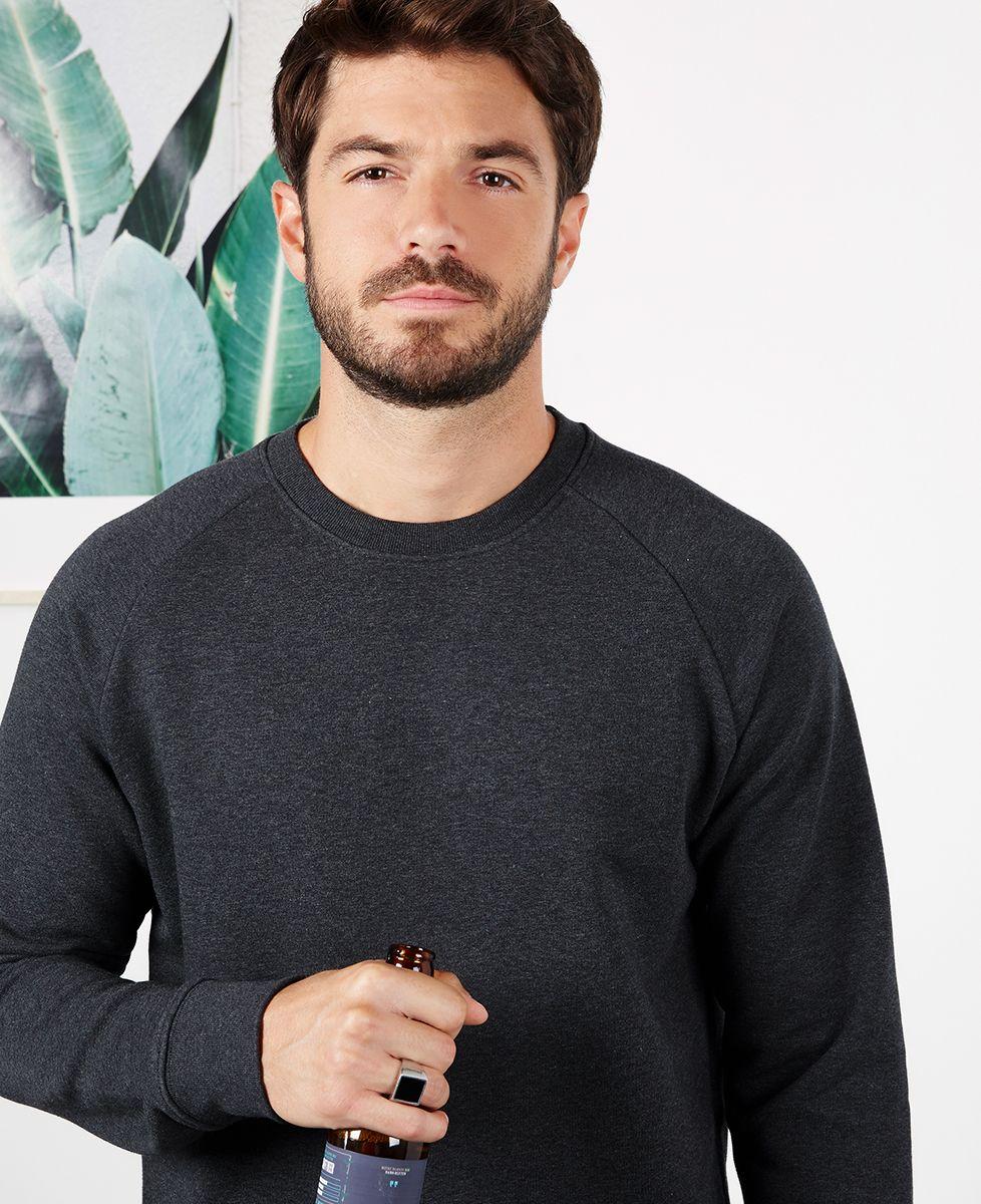 Sweatshirt homme Message et picto brodés personnalisé