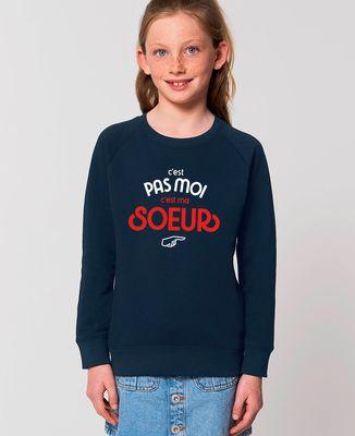 Sweatshirt enfant C'est pas moi c'est ma soeur
