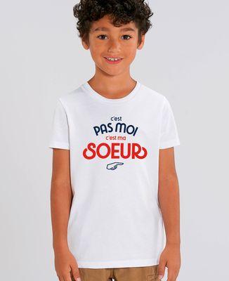 T-Shirt enfant C'est pas moi c'est ma soeur