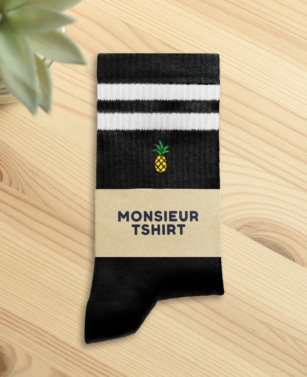 Chaussettes homme Ananas (brodé)