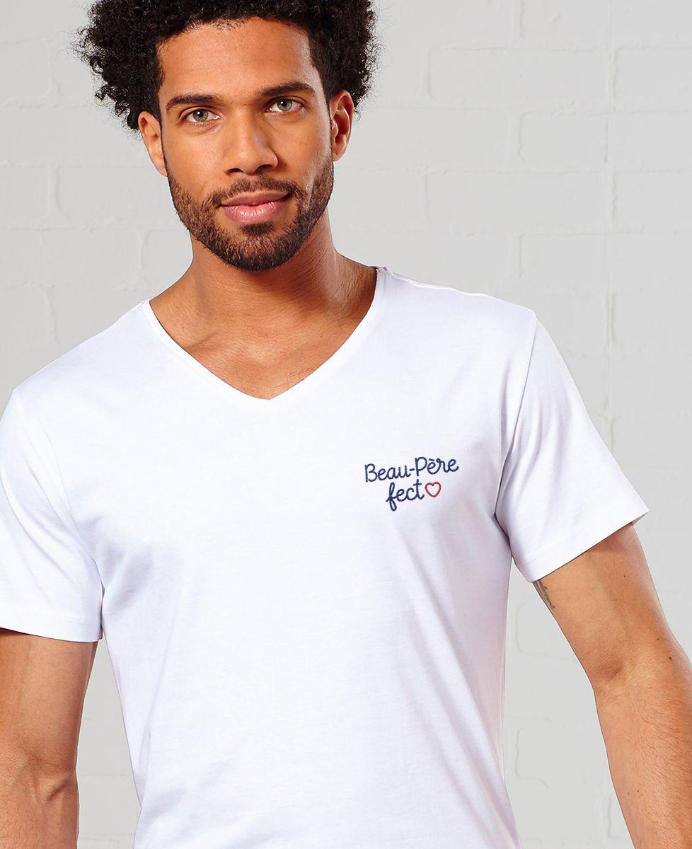 T-Shirt homme Beau-père fect (brodé)