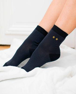 Chaussettes femme Deux étoiles (brodé)