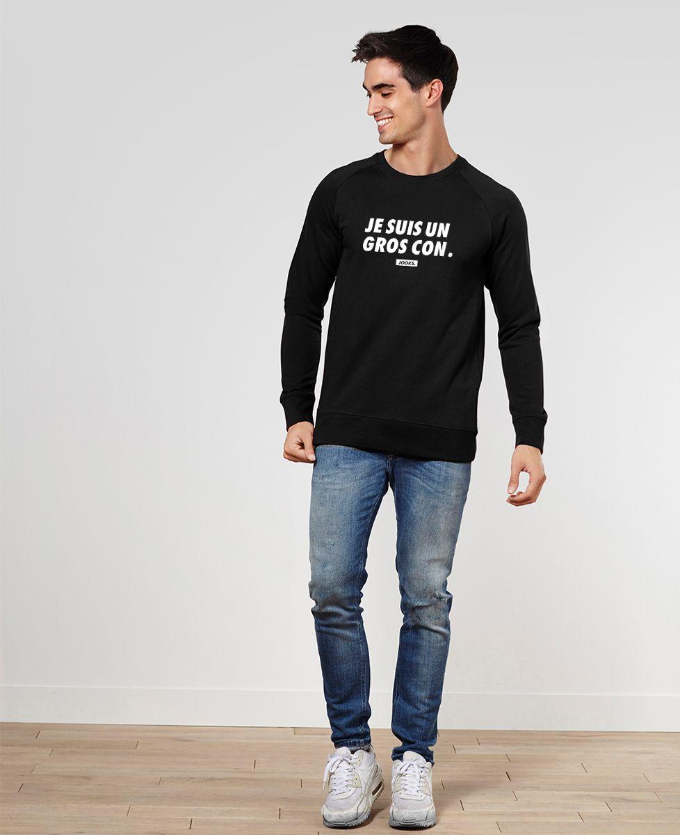 Sweatshirt homme Je suis un gros con