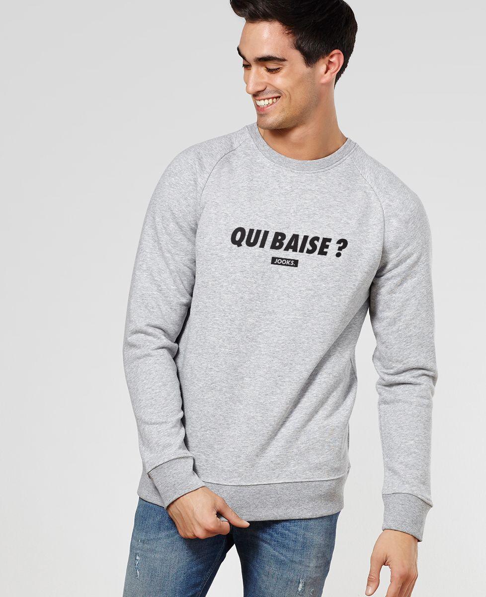 Sweatshirt homme Qui baise ?