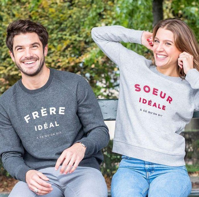 Sweatshirt homme Frère idéal/Sweatshirt femme Soeur idéale