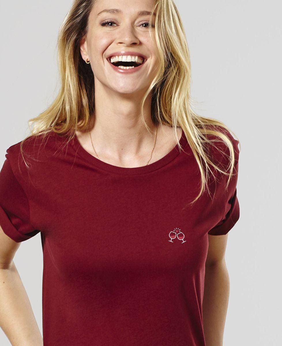 T-Shirt femme Tchin tchin (brodé)