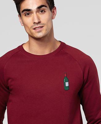 Sweatshirt homme Écusson Bouteille de vin