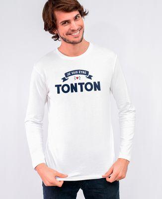 T-Shirt homme manches longues Je vais être tonton II