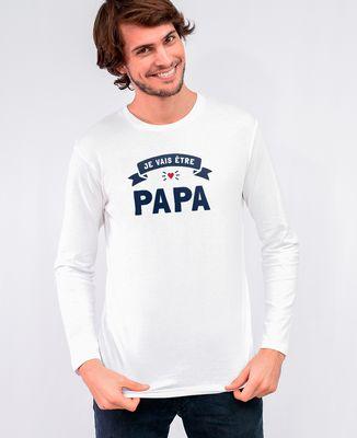 T-Shirt homme manches longues Je vais être papa