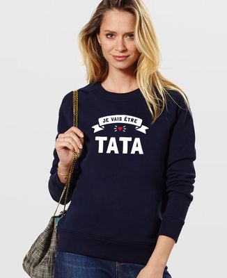 Sweatshirt femme Je vais être tata