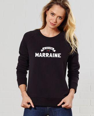 Sweatshirt femme Je vais être marraine
