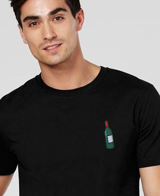 T-Shirt homme Écusson Bouteille de vin