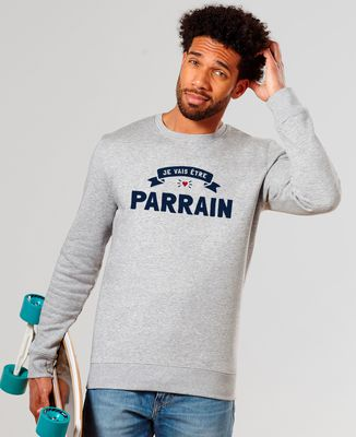 Sweatshirt homme Je vais être parrain