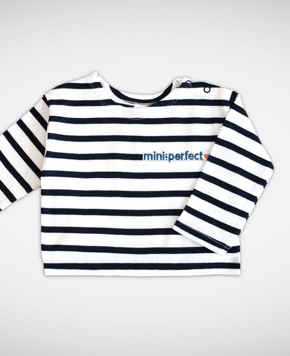 T-Shirt bébé Mini-perfect marinière (brodé)