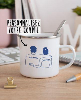 Mug Couple imprimé personnalisé
