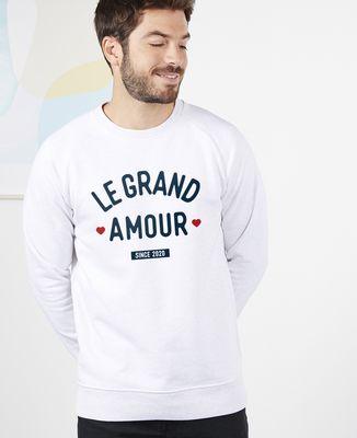 Sweatshirt homme Le grand amour personnalisé