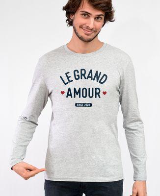 T-Shirt homme manches longues Le grand amour personnalisé