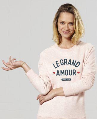 Sweatshirt femme Le grand amour personnalisé