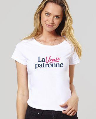 T-Shirt femme La vraie patronne