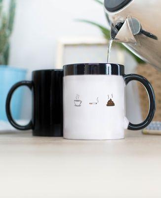 Mug Café clope caca